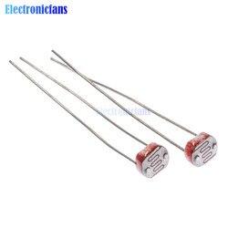 50 قطعة LDR إضاءة صور الحساسة المقاوم الكهروضوئي Photoresistor 5528 GL5528