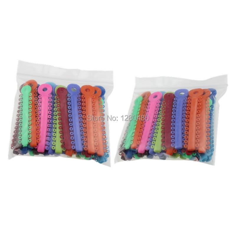 2 Packs (80Pcs) Dental Kieferorthopädische Materialien Bunte Ligatur Krawatten Gummiband Elastic Zahnarzt Produkte