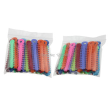 2 Packs (80Pcs) Dental Orthodontic Materials Colorful Ligature Ties Rubber Band Elastic Dentist Products