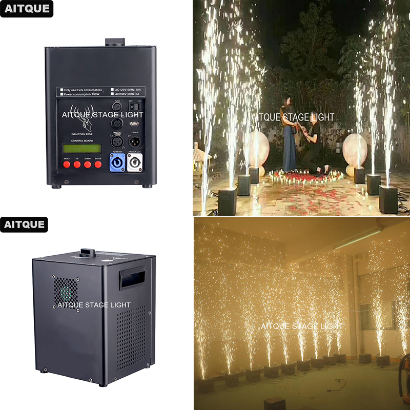 2lot Special effects China cold firework machine wedding fountain DMX spark fireworks machine china cold firework machine indoor wedding fountain dmx display spark system fireworks machine