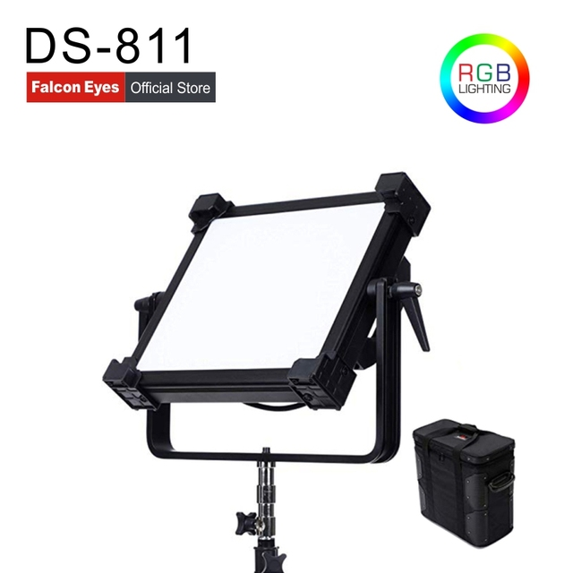 Falcon Eyes 200W RGB LED Video Fotografia Light Support Bluetooth(APP) Control 21 Scene Modes Continuous Lighting Lamp DS 811