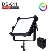 Falcon Eyes 200W RGB LED wideo Fotografia światło wsparcie Bluetooth (APP) sterowanie 21 trybów sceny ciągłe oświetlenie lampy DS 811
