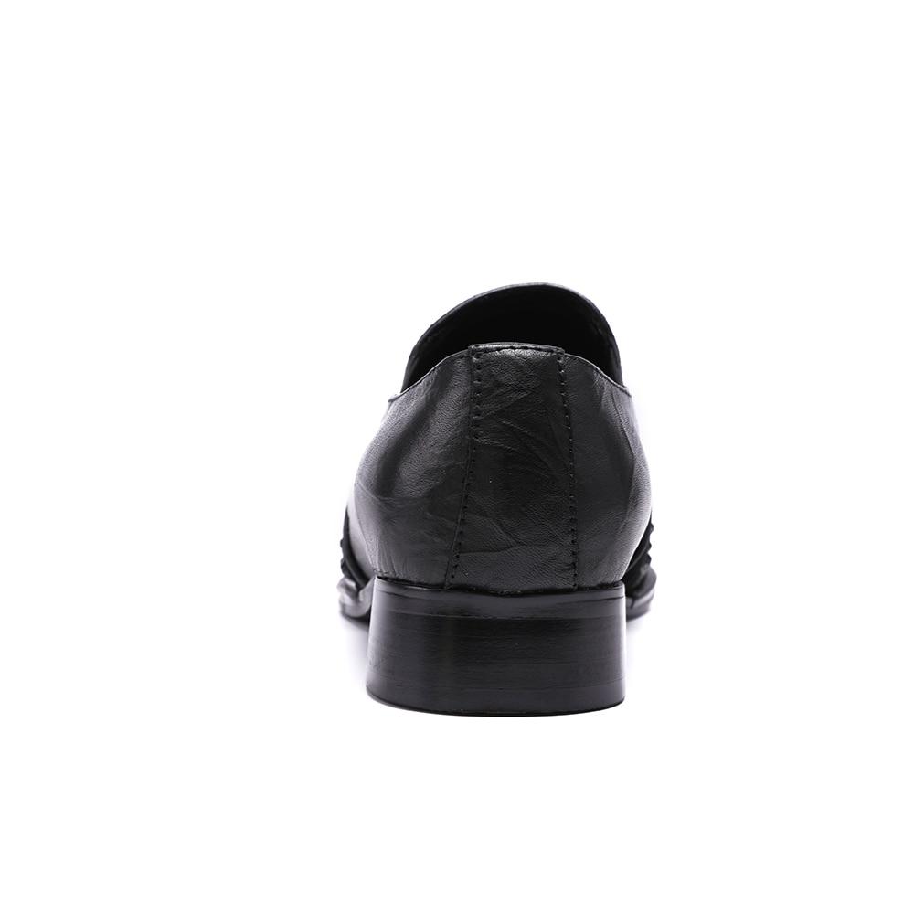 Bella Boda Oxford Planos Negro Para 47 Tamaño Zapatos Plus Diamantes Christia Vestido Los Moda Hombres Club De Con 7qdzO4