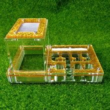 Новое поступление Ant Корпус гнездо клетка для насекомых хозяйств, корма для акрил Дисплей коробка муравей вилла мелких животных клетка для насекомых s сохранить влагу Ant замок