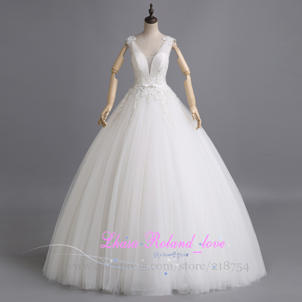 Buy sexy cheap v neck wedding dress made for Buying wedding dress from china