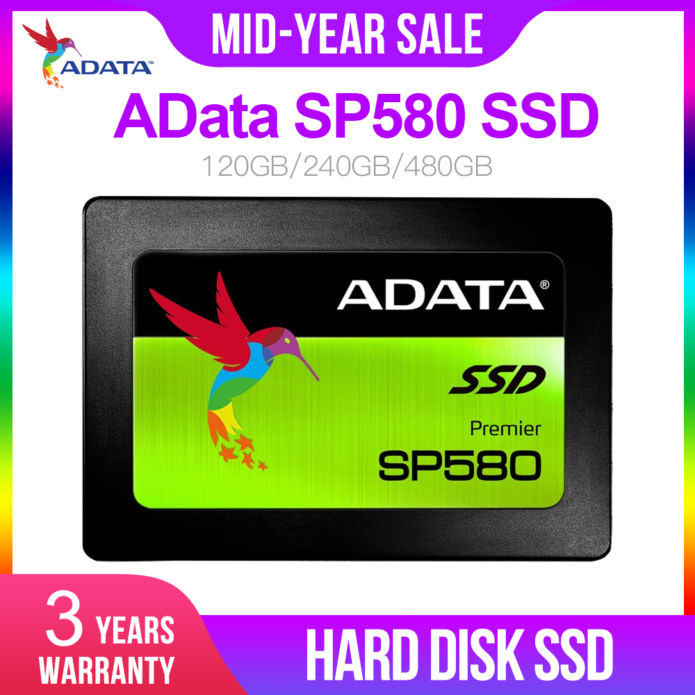 AData SP580 <font><b>SSD</b></font> <font><b>120GB</b></font> SATA 3 2.5 inch Internal Solid State Drive HDD Hard Disk <font><b>SSD</b></font> Notebook PC 120G 240GB 480GB Laptop image