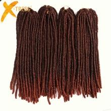 "X-TRESS 20Strands 20"" Soft Dreadlocks Crochet Braids Kanekalon Jumbo Dread Hairstyle Ombre Synthetic Braiding Hair Extensions"
