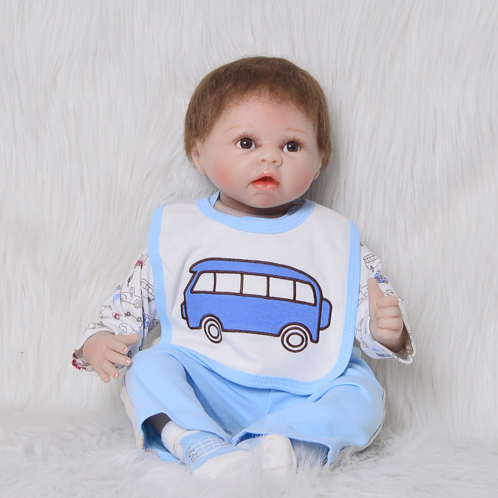 Lifelike Silicone Doll Reborn 22 55cm Handmade Realista Vinyl Reborn Baby Dolls Fashion Boy Toys Kids Playmates Birthday Gifts handmade ancient chinese dolls 1 6 bjd jointed doll empress zhao feiyan dolls girl toys birthday gifts