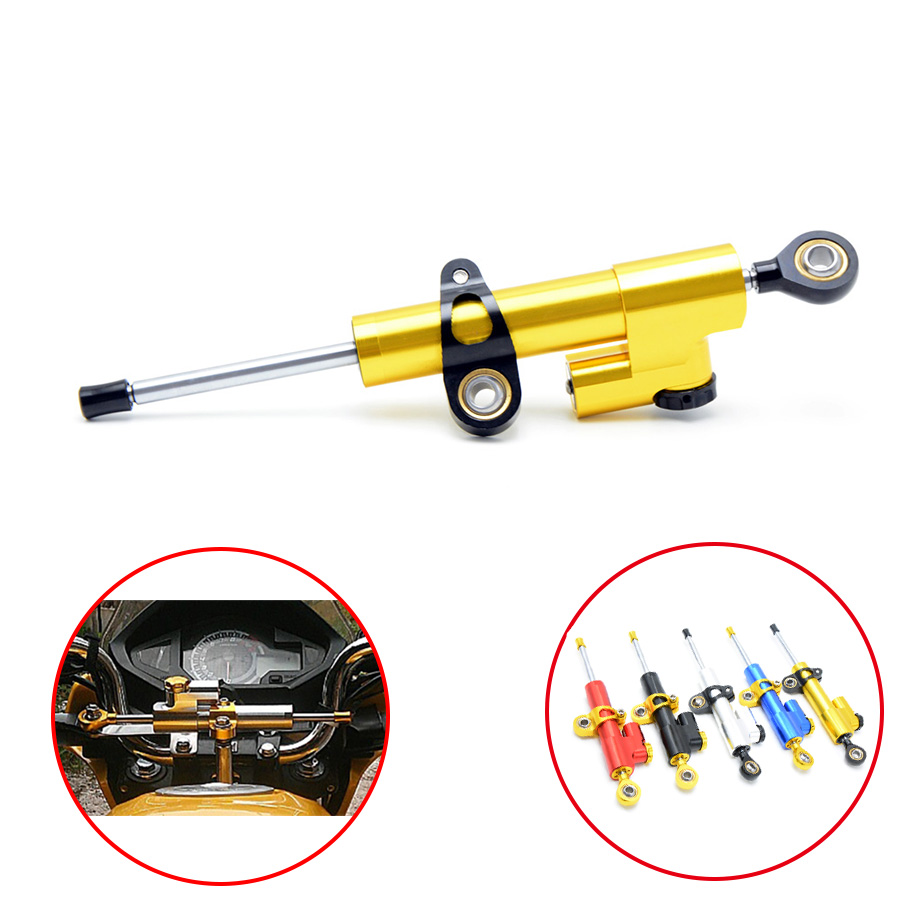 Universal Motorcycle Damper Steering Stabilizer Moto Linear Safety Control For BMW R1100S R1100S ABS Boxer Cup Rep R1150R K1200S universal motorcycle damper steering stabilizer moto linear safety control for suzuki gsx1250fa sv650sf gsx650f katana 600 750