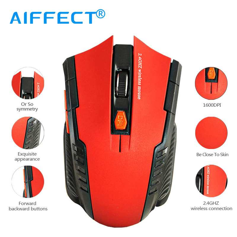 AIFFECT Profession Mini Wired Gaming Mouse For PC Gaming Laptops 2.4GHz Wireless Optical Mouse With USB New Game Wireless Mice.