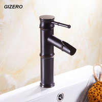 Newly Euro Elegant Black Faucet Bamboo Style Faucet Bathroom Basin Mixer Deck Mounted Single Handle Water Taps ZR268