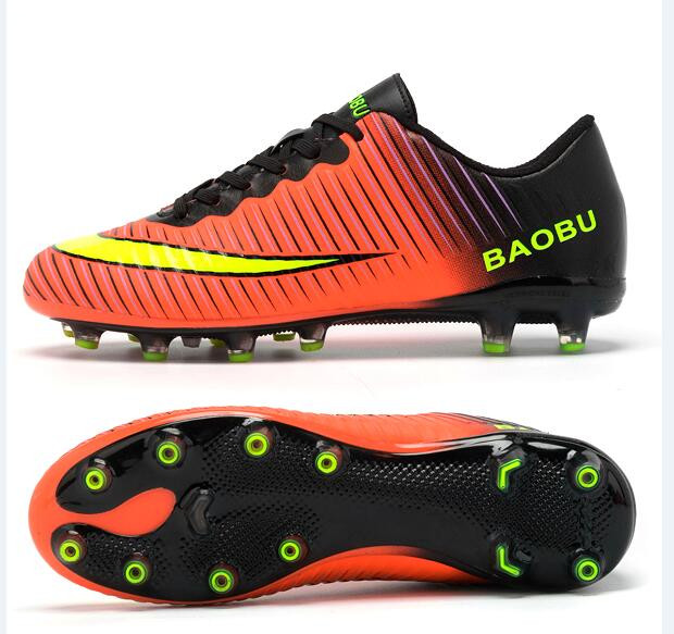 Football Shoes Mens Professional Outdoor Soccer Shoes TF/FG/AG Long Spikes Training Football Boots Hard-wearing Soccer Cleats