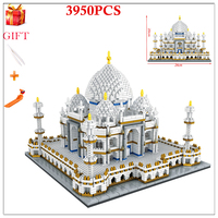 Building Bricks City Architecture Compatible Legoing Landmarks Taj Mahal Palace 3D Model Children's Educational Toy