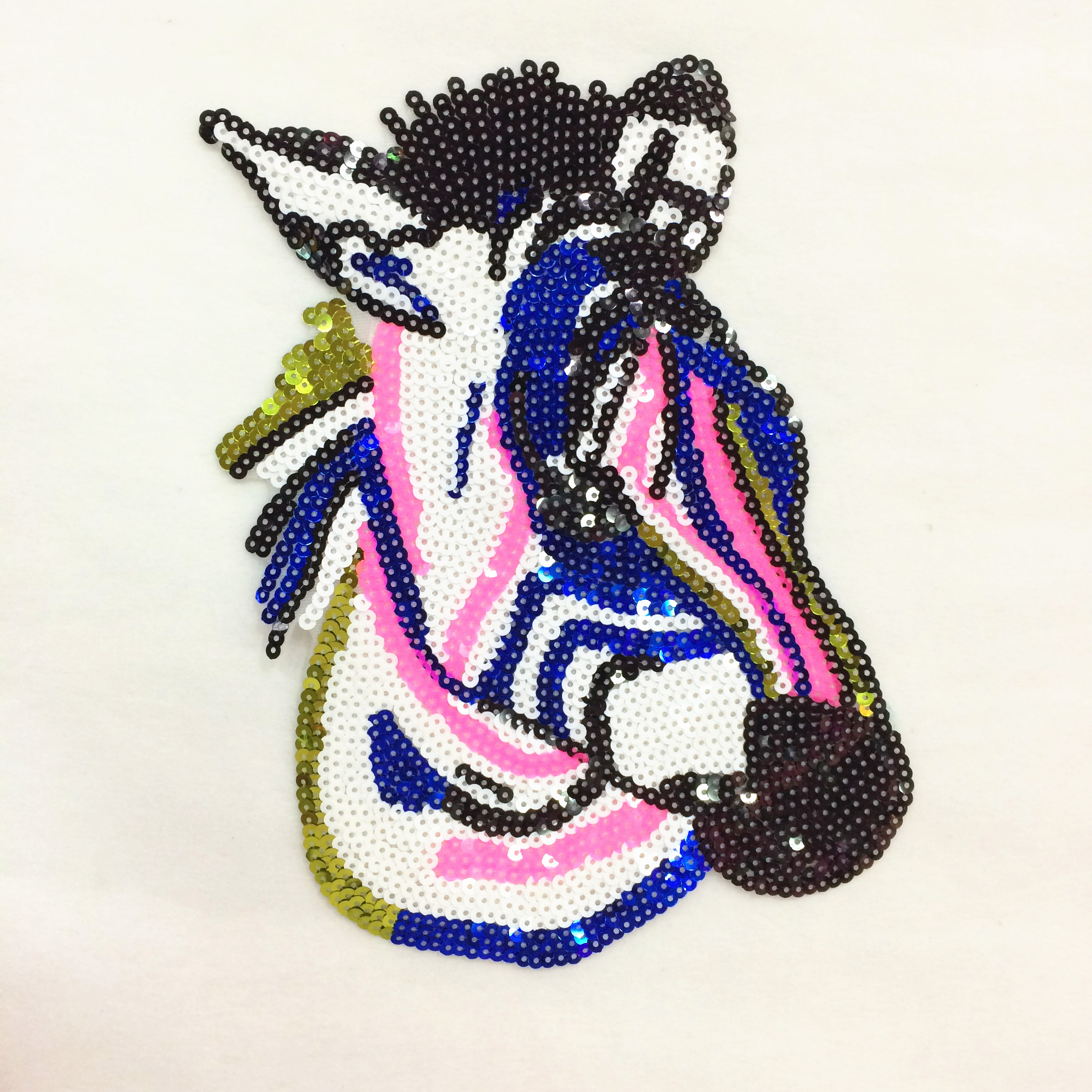 color horse sequined parches termoadhesivos embroidery applique patches for clothing ,ironing patches stickers for clothes