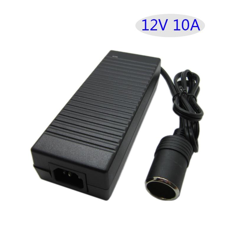 AC 100V-240V Converter Adapter DC12V 10A Car Power Supply Cigarette Lighter Converter 12V10A AC DC adapter 120W Table type 120w power converter ac 220v 100 250v input dc 24 v 5a output adapter car power supply cigarette lighter plug