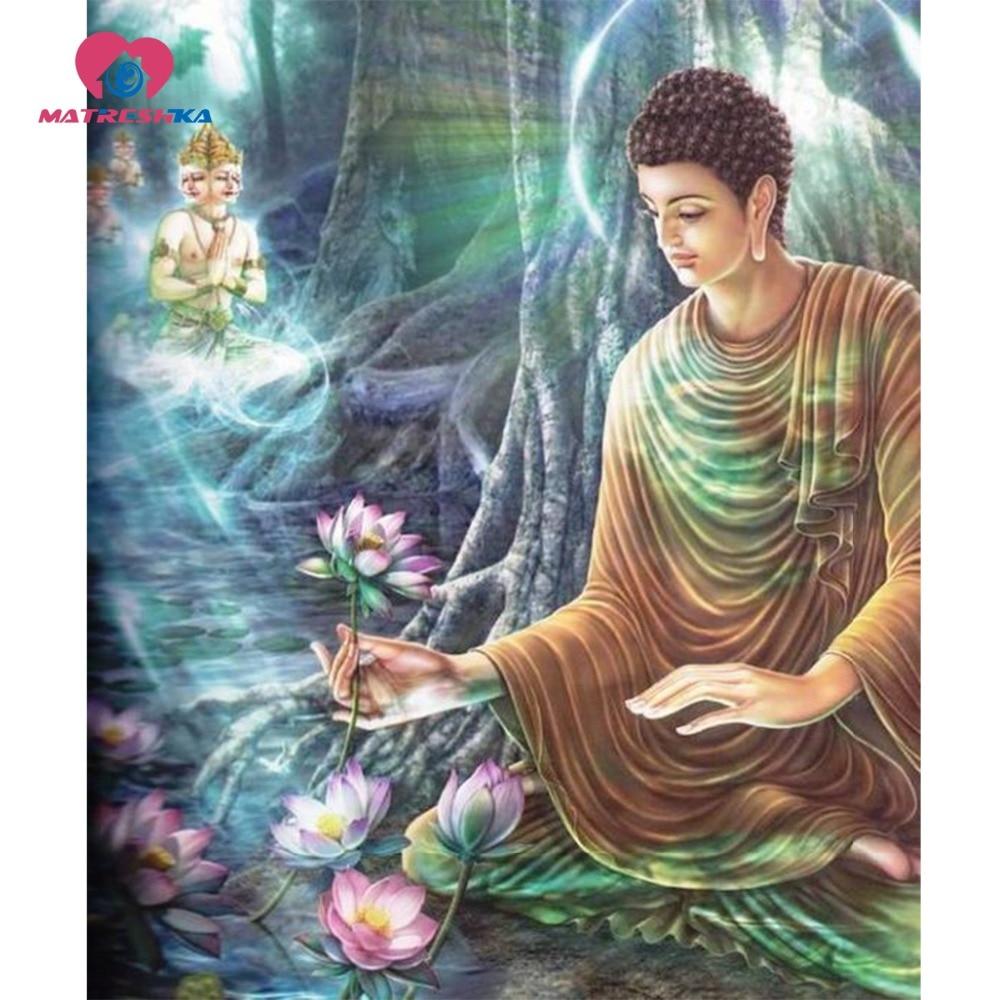 Needle Arts & Crafts Realistic Diamond Painting Buddha Waterfall Diamond Embroidery Sale Diamond Painting Accessories Rhinestones Pictures