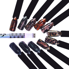 1 Pz Dual-ended Cat Eye Magnetic Stick Fiore Striscia Griglia Spot Modello Per Gel UV Magnete DIY Design Manicure Strumento Nail Art