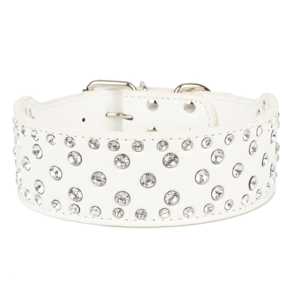Large Dogs Collars Rhinestone Accessories Pets Product Collar Personalized For Big Dog Collars Necklace greyhound hond