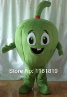 קמע ירקות פלפל ירוק קמע תלבושות מהודרת מותאם אישית ערכות תלבושות אנימה קוספליי קרנבל תלבושות mascotte פנסי dress