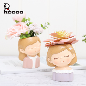 Image 3 - Roogo FlowerPot Modern Plant Pot Couple Lovers Pots For Flowers Succulent Cute Decorative Flower Pots For Wedding Decoration