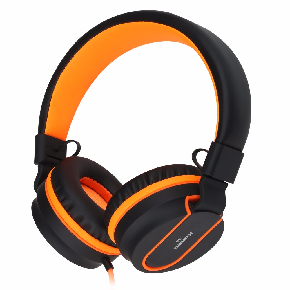 Sound Intone I35 Adjustable Headset with Microphone 3.5 mm Wired Headset Lightweight Stereo Bass Headphone for Cellphones Laptop
