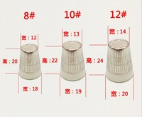 Quality of good export thick alloy silver thimble hat