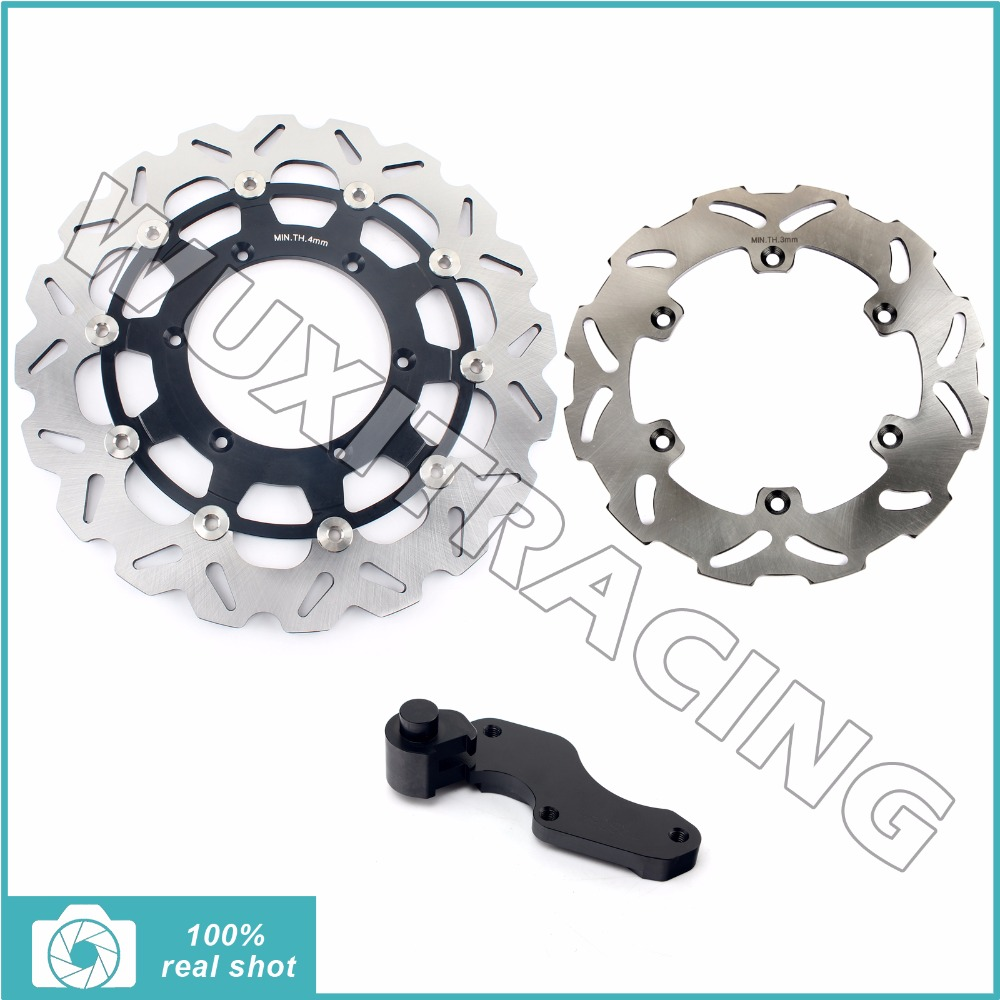Oversize 320MM Front Rear Brake Disc Rotor Bracket Adaptor for SUZUKI RM 125 250 RM125 RM250 96-99 97 98 DRZ 400 S E 00-09 01 02 fit for rm 125 00 09 rm250 00 01 02 03 04 05 06 07 08 09 10 11 12 front rear brake disc rotor bracket bracket oversize 320mm