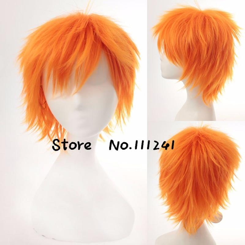 Cosplay Wigs Short Naruto Synthetic-Hair Fluffy-Layered Pain BLEACH Kurosaki for Man