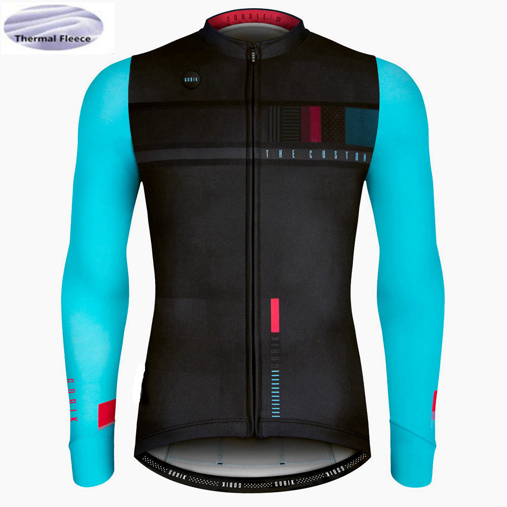 Winter Thermal Fleece Jerseys Lengthy Sleeve Biking Jerseys Tranning Race Bicycle Put on Professional Match Biking Garments
