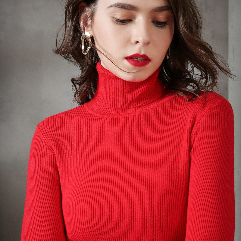 Women Long Sleeve Cashmere Sweater Pullover For Women 2019 Autumn Winter Turtleneck Woolen Sweater Casual Female Jumper Sweater