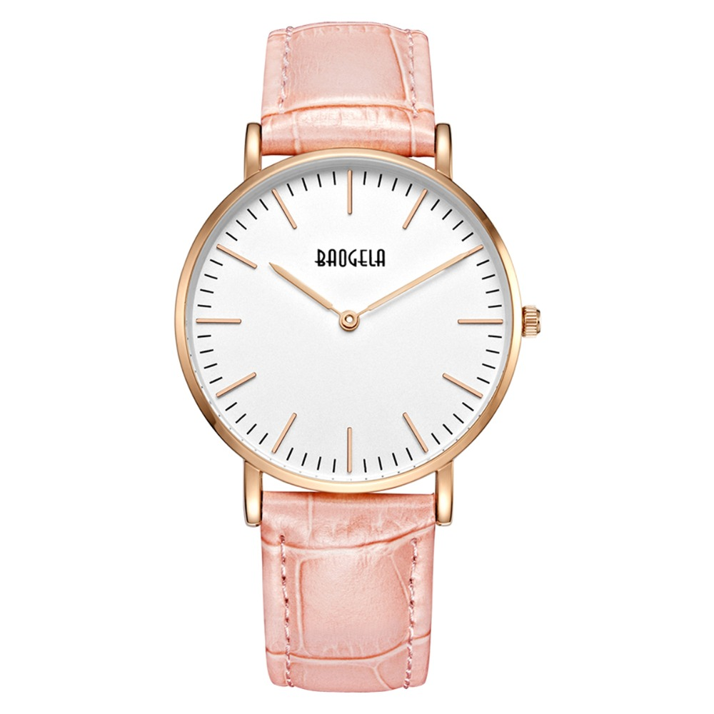 Baogela Fashion Minimalist Watch Lady Belt Waterproof Quartz Watch