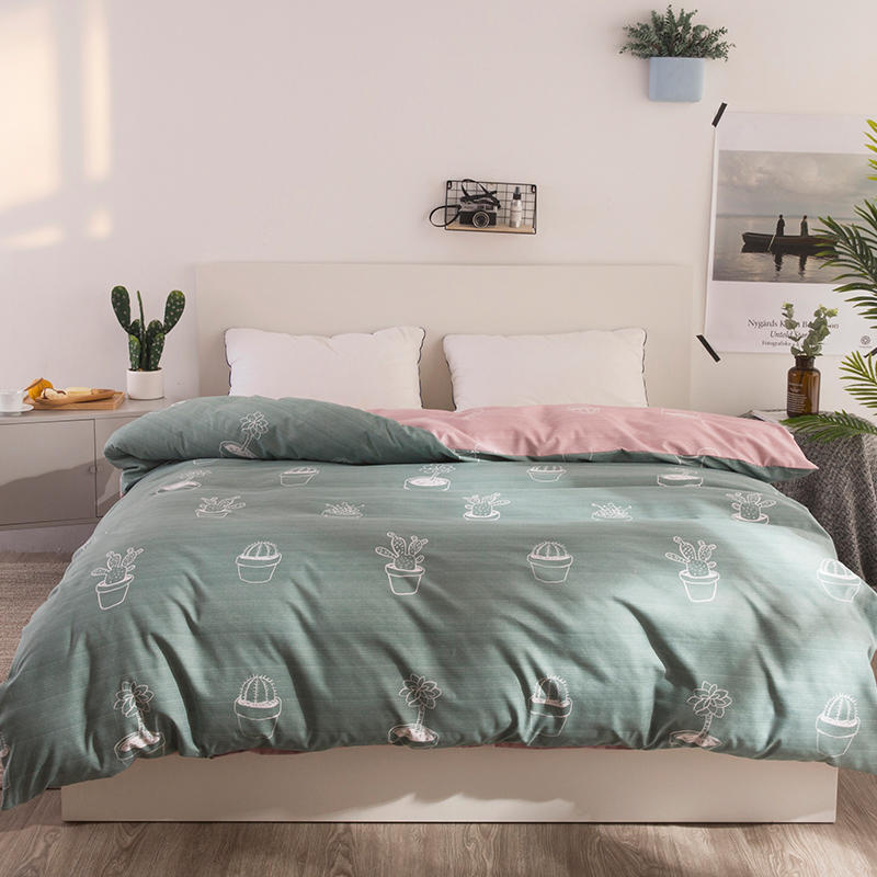 1 Piece Duvet Cover with Zipper Cotton Quilt Comforter Blanket Case Pastoral Printing 150*210/180*230/200*230 cm free shipping