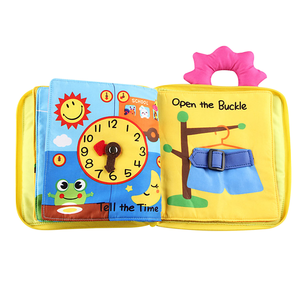 Kids Baby Soft Touch Eco-Material Cloth Books 3D Book Early Educational Toy