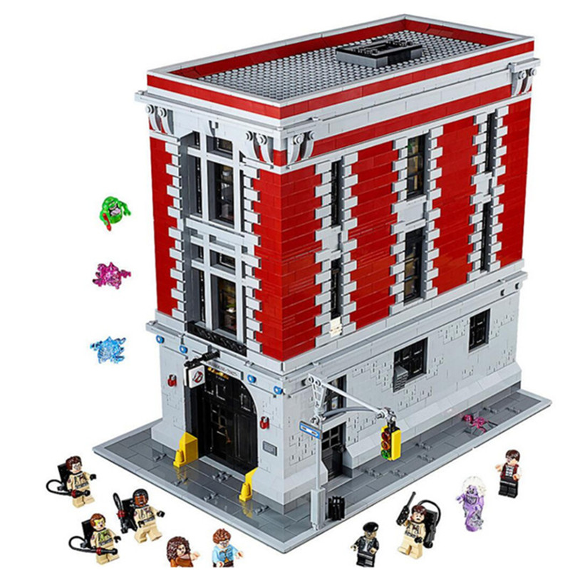 4705Pcs Ghostbusters Firehouse Headquarters set Compatible legoing 75827 Building Kits playmobil blocks bricks toys for children