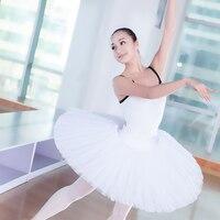 Meninas profissionais Adulto Ballet Metade Tutu Saia Black White Swan Lake Ballet Panqueca Tutus Bailarina Duro Organdi Platter Saia
