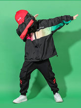 Children Hip Hop Girls Cool Clothes Tide Fashion Sportswear Jacket Trousers Boys Suit Girls Street Dance Clothes Autumn(China)