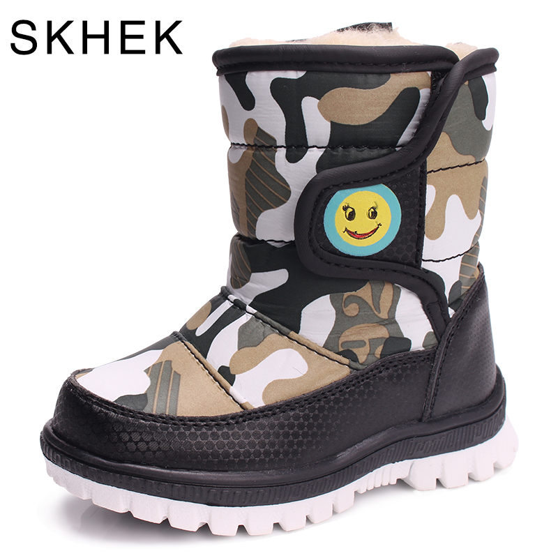 SKHEK Girls Boy Boots Para Niños Botas de Nieve de Invierno Cálido - Zapatos de niños - foto 2
