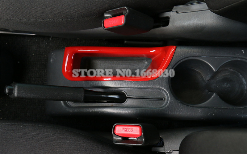 Black Inner Console Handbrake Storage Box Trim Cover For Suzuki Jimny 2007-2017