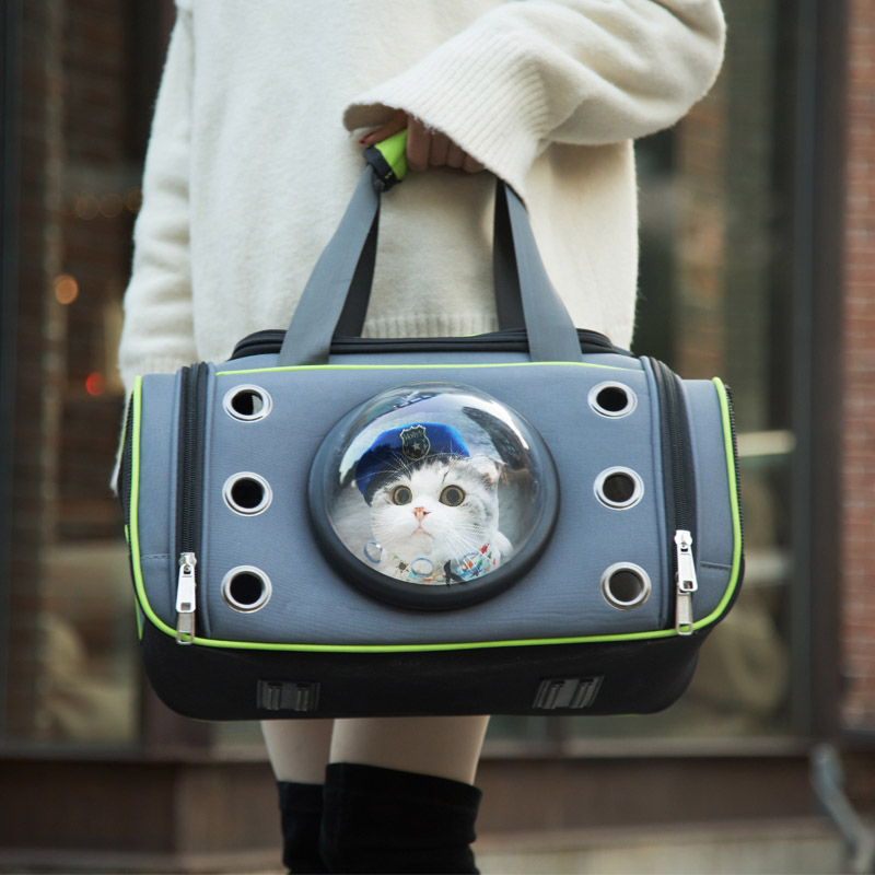 Cat Space Capsule Shaped Pet Carrier Travel Carrying Breathable Shoulder Backpack Outside Travel Portable Bag Pet