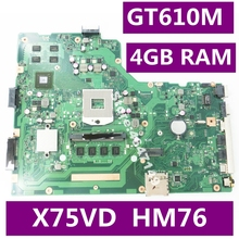 X75VD 4 Гб Оперативная память GT610M 8 шт. Объём памяти видеокарты материнская плата версия 2,0 для ASUS X75V X75VC X75VB R704V X75VD Материнская плата ноутбука Тесты ОК