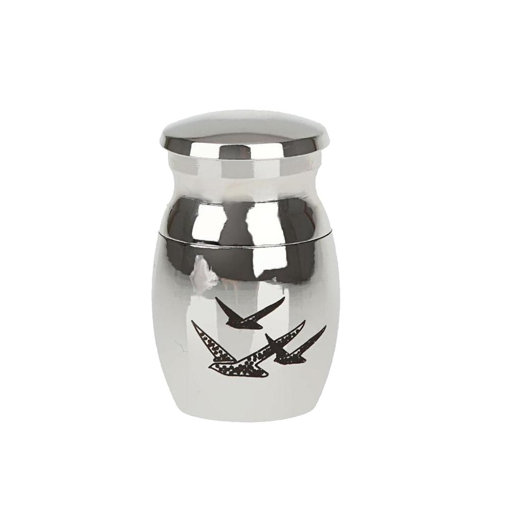 Hot Pet Dog Cinerary Casket Pigeon Pattern Hangings Stainless Steel Cremation Urn