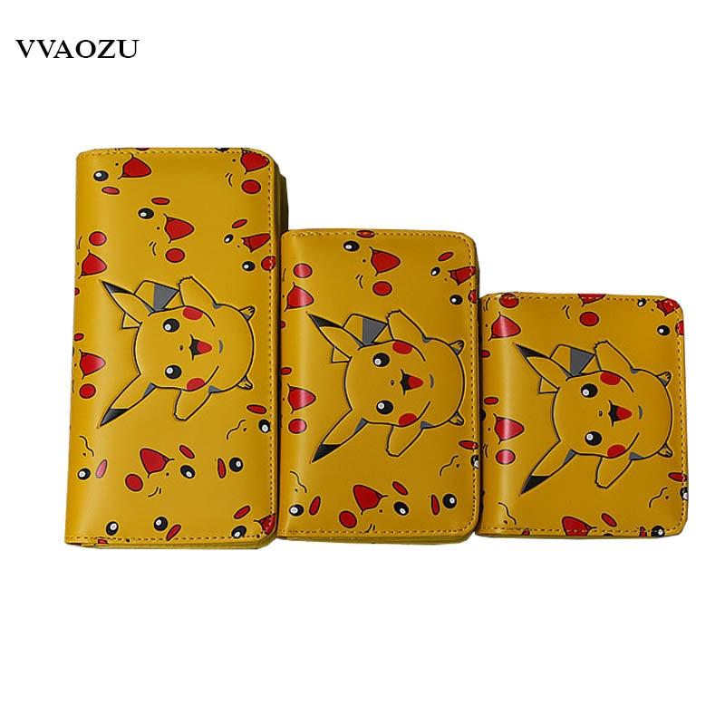 9fd23005c046 Hot Fashion Cartoon Pokemon Go Pikachu Wallets Billetera PU Money Bag Purse  Coin Pouch Dollar Bag Card Holder Purses