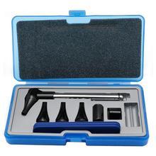 Набор для ухода за ушами, отоскоп, оптическое волокно, отоскоп, офтальмоскоп, светодиодный, ENT, диагностический комплект для осмотра ушей, носа и горла