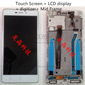 For Xiaomi Redmi 3 Complete LCD Display Touch Screen Panel Digitizer Middle Frame Assembly Replacement Repair Spare Parts