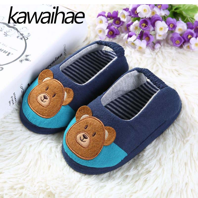 Cute-Bear-Children-Shoes-Girls-Boys-Slipers-Home-Indoor-House-Kids-Flat-Cotton-Shoes-Kawaihae-Brand-1