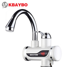 3KW Instant Water Heater Crane LCD Temperature Display Water Heater Electric Hot Water Tankless Heating Bathroom