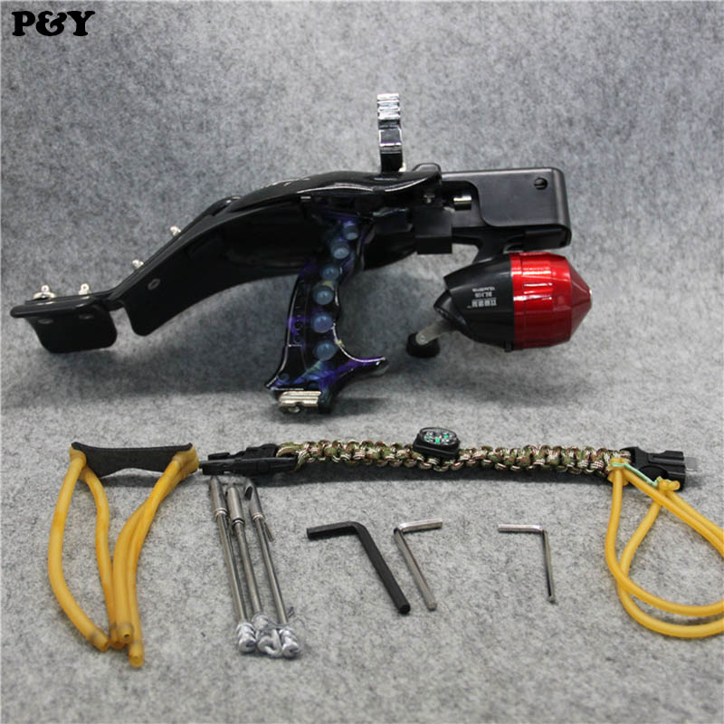 Genuine Piao Yu Fishing Slingshot for Hunting Heavy Archery Bow Catapult Arrow Set Outdoor Shooting Hunting Slingshots New high quality portable black bow slingshot catapult hunting shooting fishing reel protective wristband metal buckle