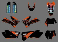 0271 NEW TEAM GRAPHICS WITH MATCHING BACKGROUNDS FIT FOR SXF MXC SX EXC Series 2005 2006
