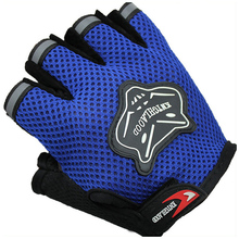 Hot Sale Outdoor Sports Breathable Motorcycle Gloves Men Women Fitness Half Finger Style Black Blue Red
