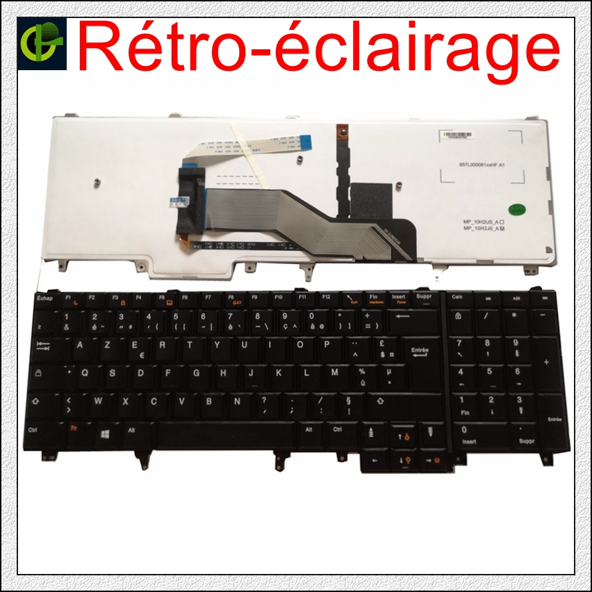 New French Backlit Azerty Keyboard For Dell Latitude E6520 E5520 E5530 E6530 E6540 M4700 M6700 E5520M M4600 M6600 M6800 FR